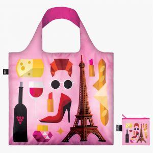 Loqi růžová skládací eko taška Hey Studio Paris
