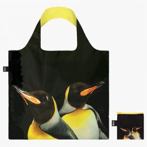 Loqi černá skládací eko taška National Geographic Penguins