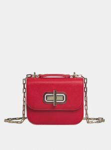 Tommy Hilfiger červená kožená crossbody kabelka