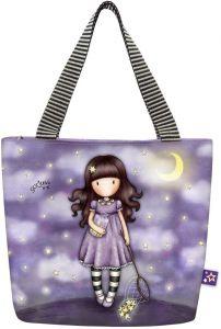 Santoro fialová taška na oběd Gorjuss Catch A Falling Star