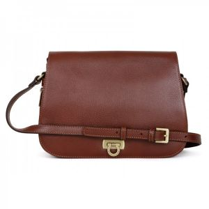 Dámská kožená kabelka Hexagona Alessia – hnědá