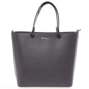 Luxusní tmavě šedá dámská kabelka – Delami Chantal šedá