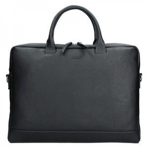 Dámská kožená taška na notebook Katana Emma – černá