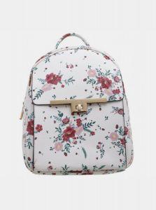 Bessie London bílý květovaný batoh