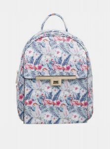 Bessie London bílý vzorovaný batoh