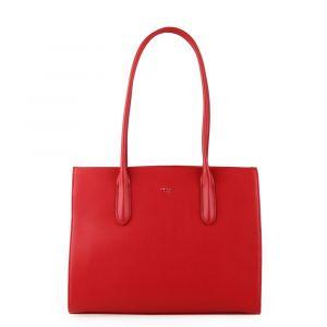 David Jones Paris Dámská kabelka přes rameno 6253-2 – červená