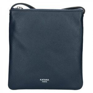 Kožená dámská crosbody kabelka Katana Elisan – tmavě modrá