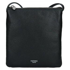 Kožená dámská crosbody kabelka Katana Elisan – černá