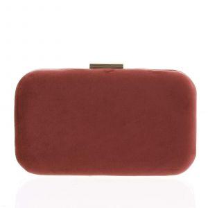 Luxusní semišové dámské psaníčko tmavě červené – Delami LK5625 červená