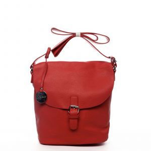 Dámská kabelka přes rameno červená – DIANA & CO Leilla červená