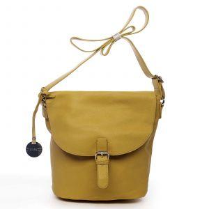 Dámská kabelka přes rameno žlutá – DIANA & CO Leilla žlutá