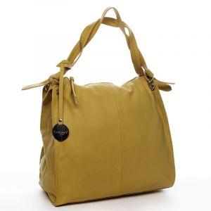 Dámská kabelka přes rameno žlutá – DIANA & CO Franczeska žlutá
