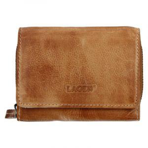 Dámská kožená peněženka Lagen Viola – světle hnědá