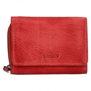 Dámská kožená peněženka Lagen Viola – červená