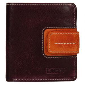 Dámská kožená peněženka Lagen Celesta – fialovo-oranžová