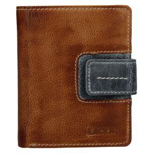Dámská kožená peněženka Lagen Václava – hnědo-šedá