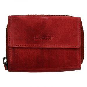 Dámská kožená peněženka Lagen Carmen – červená