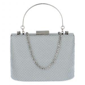 Dámské perleťové psaníčko stříbrné – Michelle Moon V380 stříbrná
