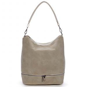 Dámská kabelka přes rameno béžová – Carine Mintóli béžová