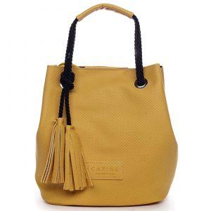 Dámská kabelka žlutá – Carine C2000 žlutá