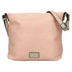 Dámská crossbody kabelka Tamaris Anje – oranžovo-růžová