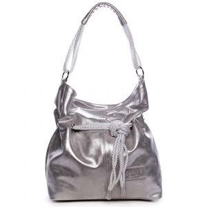 Dámská kabelka stříbrná – Carine C1000 stříbrná