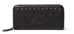Desigual černá peněženka Mone Martini Zip Around