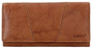 Lagen Dámská kožená peněženka PWL-388 Cognac