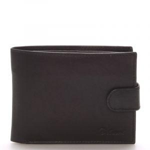 Pánská kožená černá peněženka – Delami 8945 černá