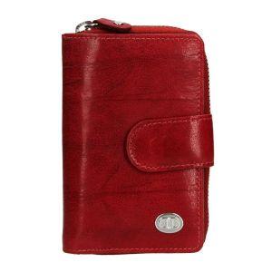 Dámská kožená peněženka DD Anekta Fancy – tmavě červená