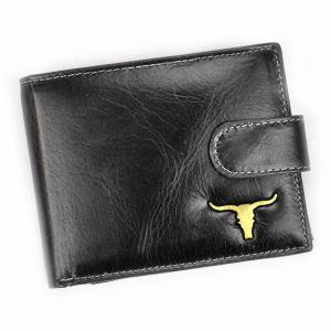 Pánská kožená peněženka Wild Buffalo Emils – černá