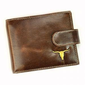 Pánská kožená peněženka Wild Buffalo Emils – hnědá