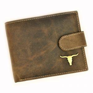 Pánská kožená peněženka Wild Buffalo Pedros – hnědá