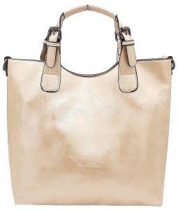 Zlatá dámská klasická kabelka INES DELAURE
