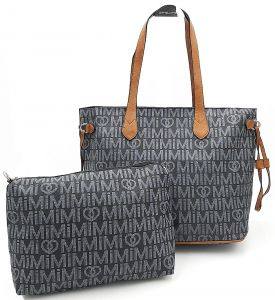 Černá prostorná kabelka s kosmetickou taškou