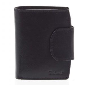 Kožená peněženka černá – Delami Chase černá