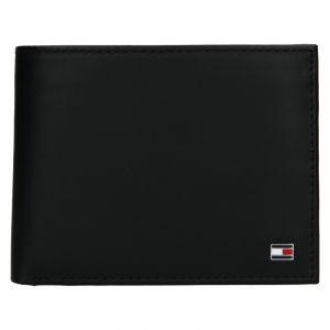 Pánská kožená peněženka Tommy Hilfiger Gunnar – černá