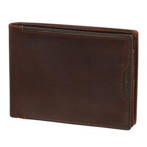 Samsonite Pánská kožená peněženka Oleo 007 RFID – tmavě hnědá