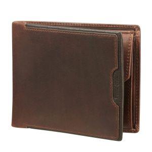 Samsonite Pánská kožená peněženka Oleo 015 RFID – tmavě hnědá
