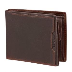 Samsonite Pánská kožená peněženka Oleo 021 RFID – tmavě hnědá