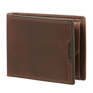 Samsonite Pánská kožená peněženka Oleo 039 RFID – tmavě hnědá