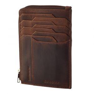 Samsonite Pánská kožená peněženka Oleo All In One 727 RFID – tmavě hnědá