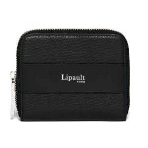 Lipault Dámská kožená peněženka Invitation Compact – černá