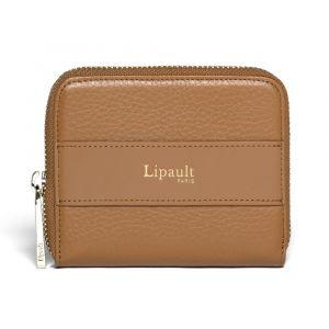 Lipault Dámská kožená peněženka Invitation Compact – hnědá