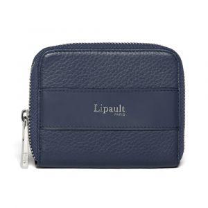 Lipault Dámská kožená peněženka Invitation Compact – tmavě modrá
