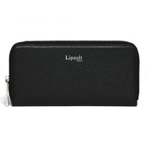 Lipault Dámská kožená peněženka Invitation – černá