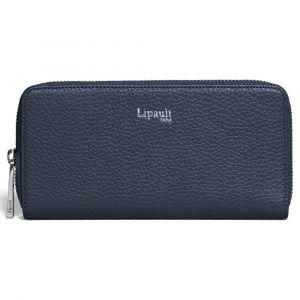 Lipault Dámská kožená peněženka Invitation – tmavě modrá
