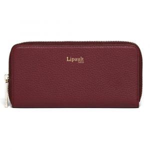 Lipault Dámská kožená peněženka Invitation – vínová