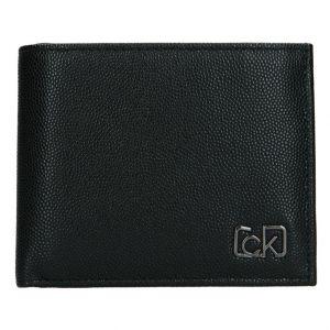 Pánská kožená peněženka Calvin Klein Brack – černá