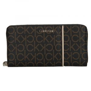 Dámská peněženka Calvin Klein Wall – tmavě hnědá